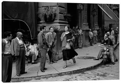 American Girl In Italy (Florence, 1951) Canvas Art Print