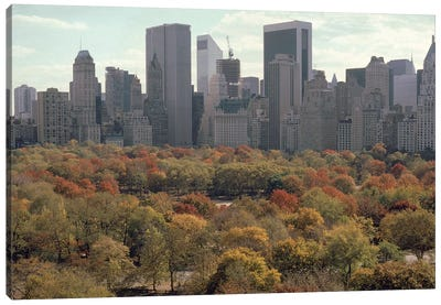 Red Autumn (Central Park NYC, 1979) Canvas Art Print