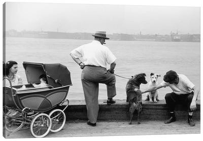 Sunday Afternoon (Gansevoort Pier NYC, 1948) Canvas Art Print