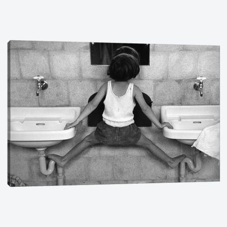 Tirza On Sinks (Israel, 1951) Canvas Print #ROK35} by Ruth Orkin Canvas Art