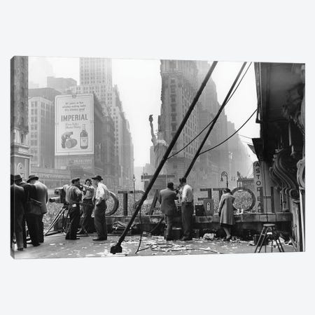 V-E Day (Times Square, NYC 1945) Canvas Print #ROK38} by Ruth Orkin Canvas Print
