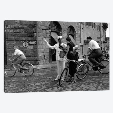 American Girl Series Asking Directions (Florence, Italy 1951) Canvas Print #ROK3} by Ruth Orkin Canvas Print