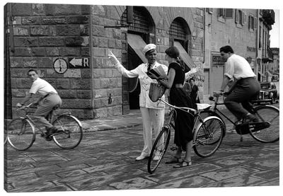 American Girl Series Asking Directions (Florence, Italy 1951) Canvas Art Print