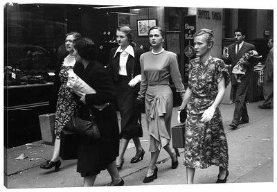 Women On Street (NYC, 1949) Canvas Art Print