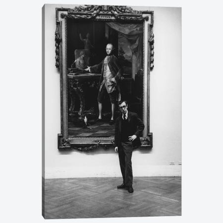 Woody Allen At The Met (NYC, 1963) Canvas Print #ROK42} by Ruth Orkin Canvas Wall Art