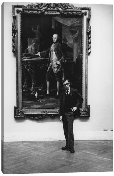 Woody Allen At The Met (NYC, 1963) Canvas Art Print