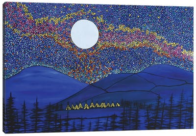 As The Village Sleeps Canvas Art Print