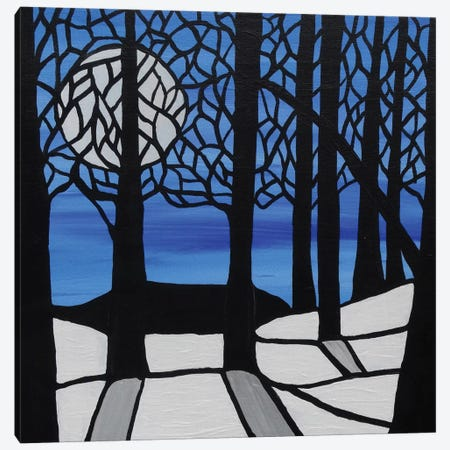 Cool Winters Night Canvas Print #ROL11} by Rachel Olynuk Canvas Art