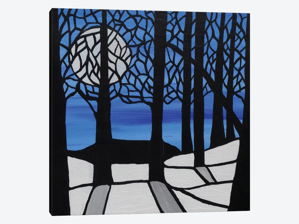 Cool Winters Night by Rachel Olynuk 1-piece Canvas Art