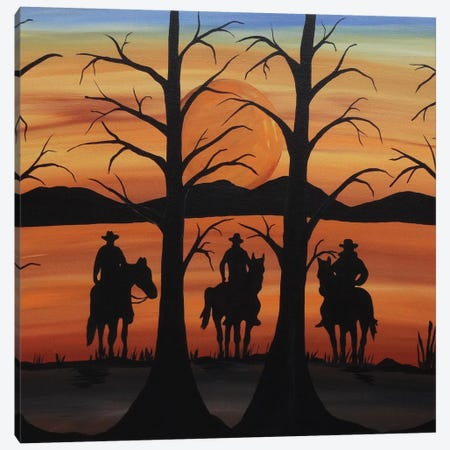 Cowboys Canvas Print #ROL12} by Rachel Olynuk Canvas Wall Art