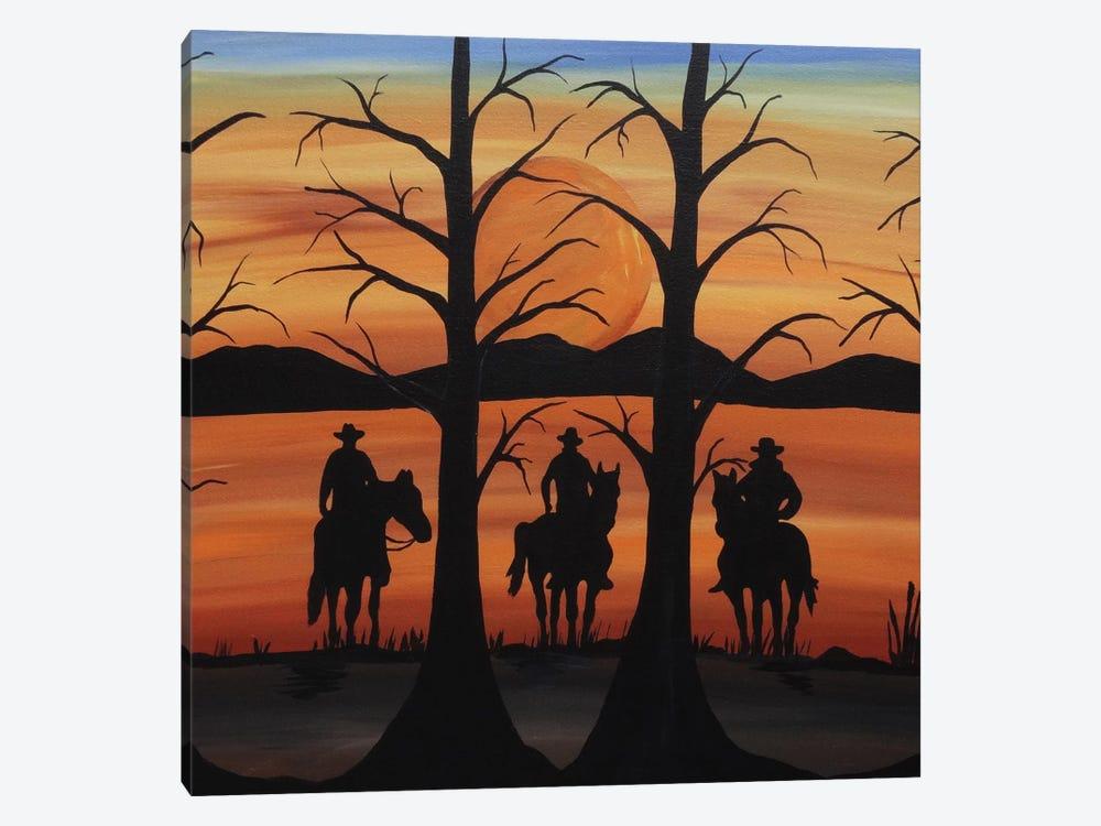 Cowboys by Rachel Olynuk 1-piece Canvas Art Print