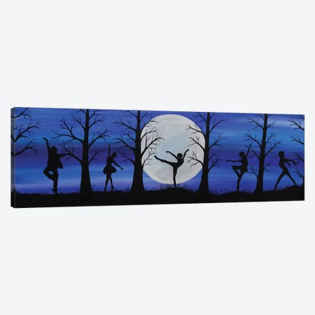 Dance By The Light Of The Moon Canvas Print #ROL13} by Rachel Olynuk Canvas Wall Art