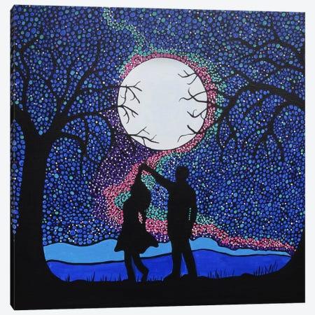 Dancing Under The Moonlight Canvas Print #ROL14} by Rachel Olynuk Canvas Art Print