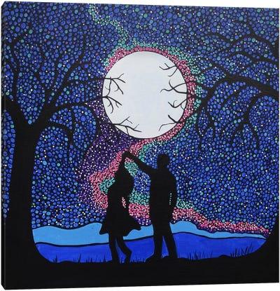 Dancing Under The Moonlight Canvas Art Print