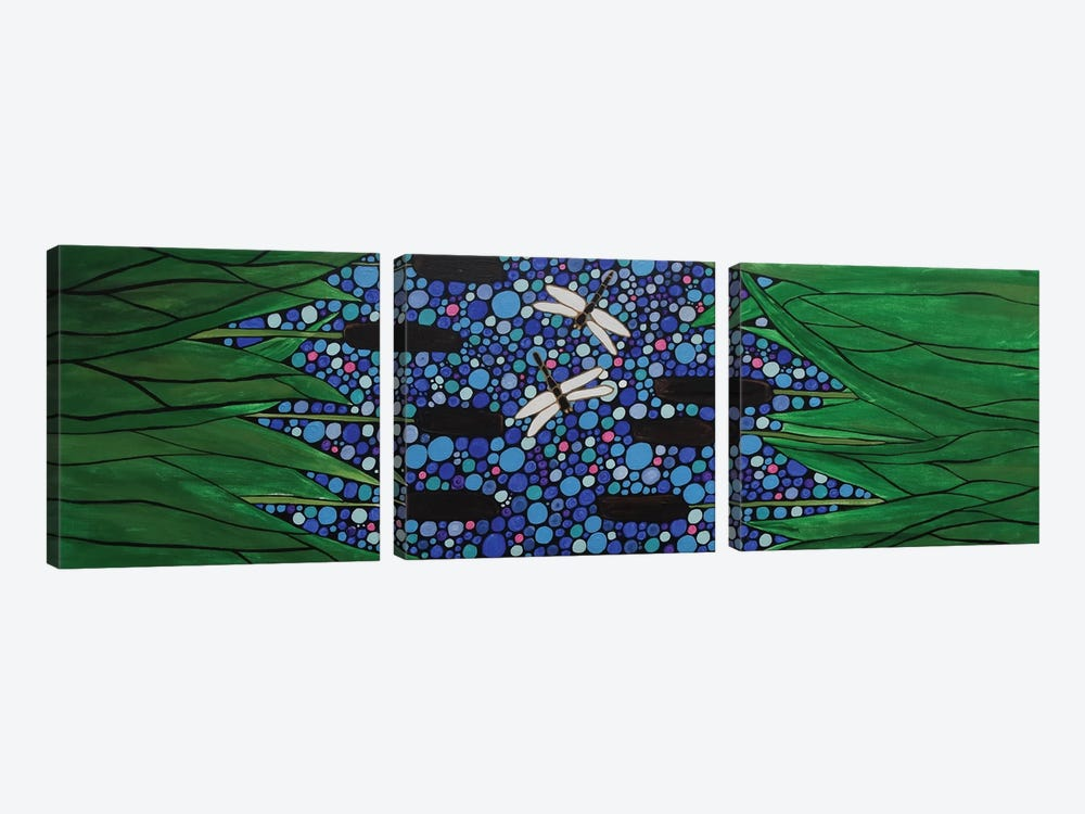 Dragonflies by Rachel Olynuk 3-piece Canvas Art