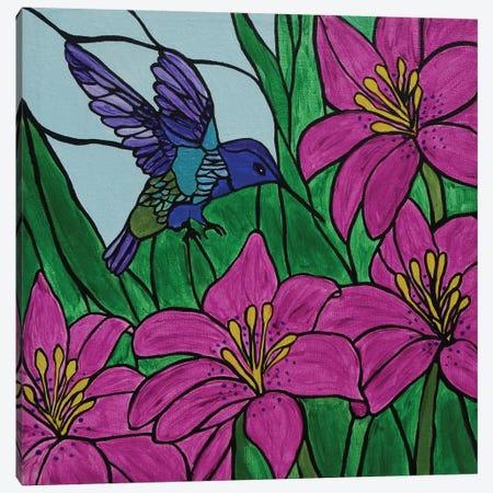 Groovy Little Hummingbird Canvas Print #ROL18} by Rachel Olynuk Canvas Art