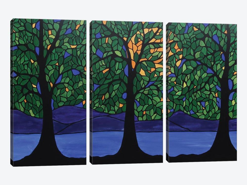 Jubilant Forest by Rachel Olynuk 3-piece Canvas Art