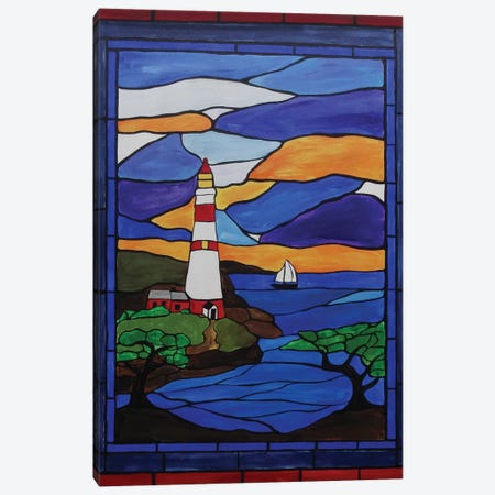 Lighthouse Canvas Print #ROL24} by Rachel Olynuk Canvas Art