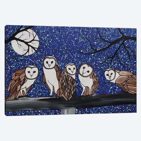Little Barn Owls Canvas Print #ROL25} by Rachel Olynuk Canvas Art
