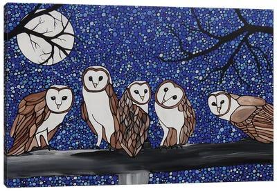 Little Barn Owls Canvas Art Print