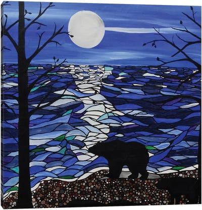 Moonlit Bear Canvas Art Print