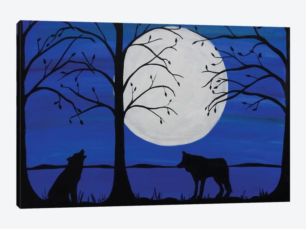 Moonlit Wolves by Rachel Olynuk 1-piece Canvas Art