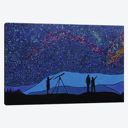 Northern Lights Canvas Print #ROL29} by Rachel Olynuk Art Print