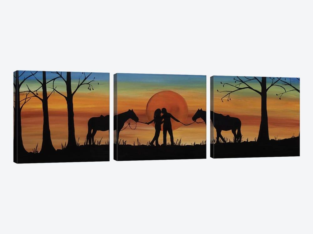 Octobers Kiss by Rachel Olynuk 3-piece Canvas Art Print