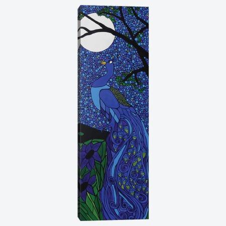 Peacock Blue Canvas Print #ROL33} by Rachel Olynuk Canvas Artwork