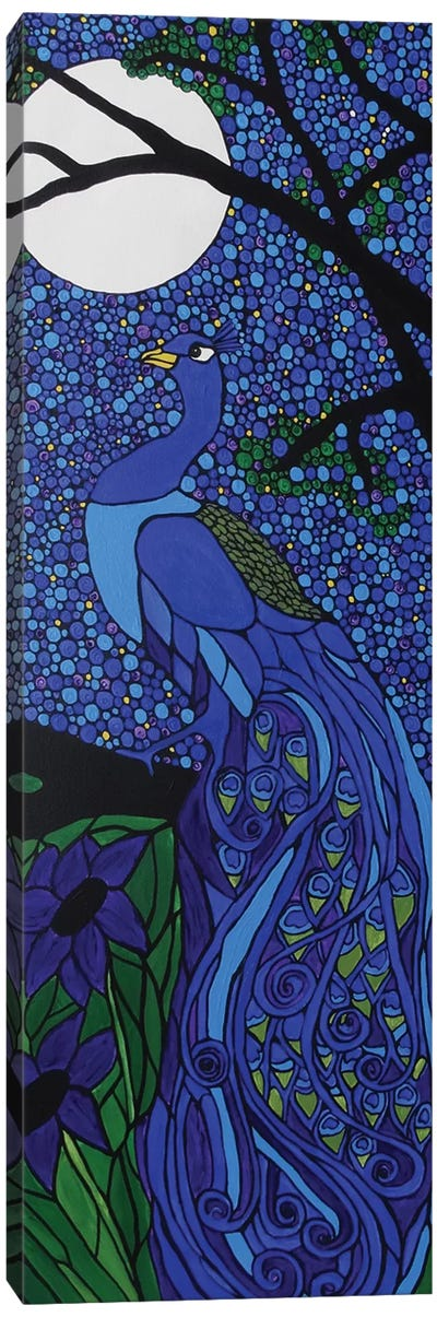 Peacock Blue Canvas Art Print