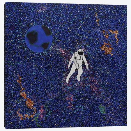 Solitary Blue Canvas Print #ROL39} by Rachel Olynuk Canvas Wall Art