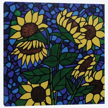 Sunflower Saturday Canvas Print #ROL43} by Rachel Olynuk Canvas Art Print
