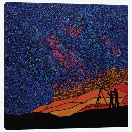 The Stargazers Dream Canvas Print #ROL44} by Rachel Olynuk Canvas Art