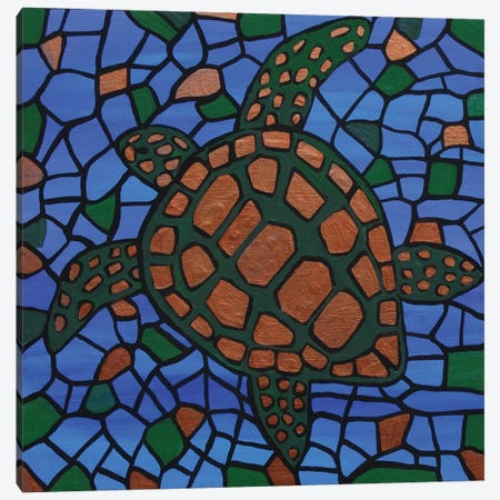 Turtle Canvas Print #ROL45} by Rachel Olynuk Canvas Wall Art