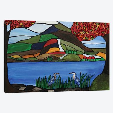 Autumn Mosaic Canvas Print #ROL48} by Rachel Olynuk Canvas Art Print