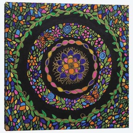 Bohemian Flower Garden Canvas Print #ROL4} by Rachel Olynuk Art Print