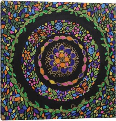 Bohemian Flower Garden Canvas Art Print