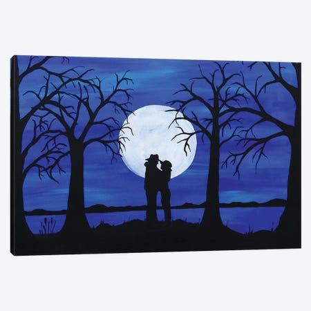 Full Moon's Love Canvas Print #ROL52} by Rachel Olynuk Canvas Artwork