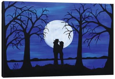 Full Moon's Love Canvas Art Print