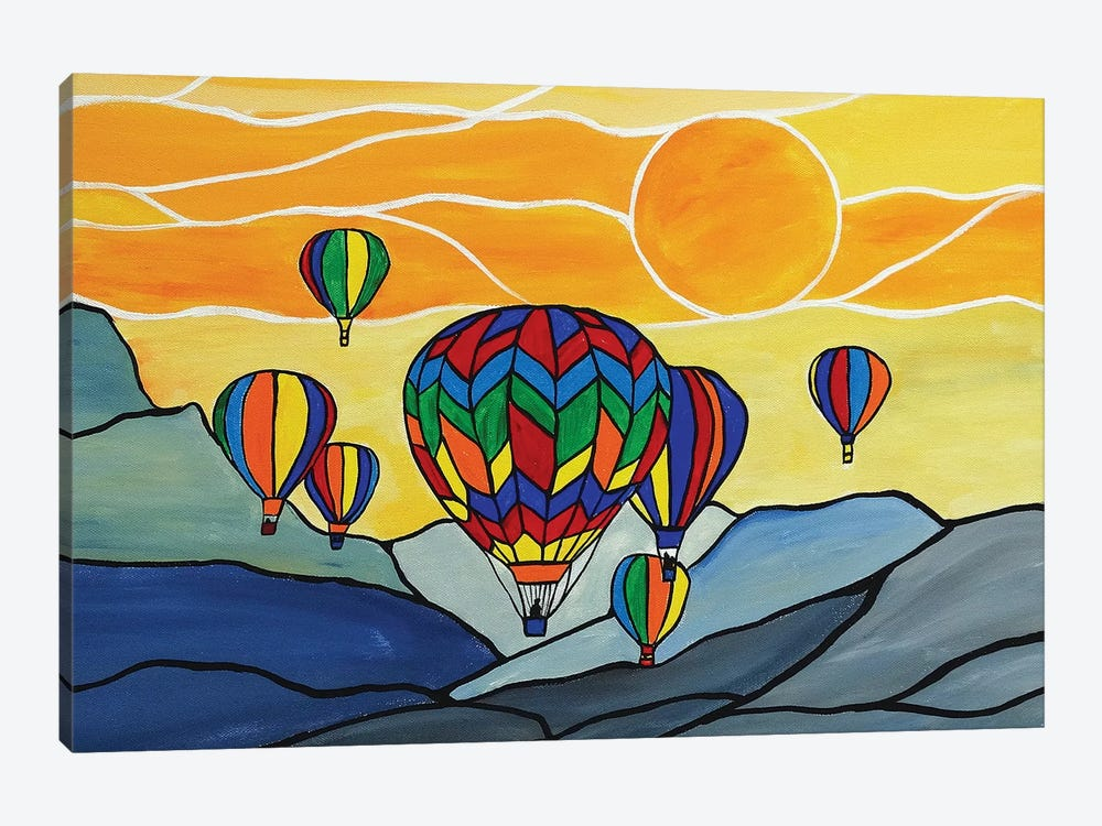 Hot Air Balloons by Rachel Olynuk 1-piece Canvas Art