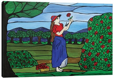 Ruby Red Roses Canvas Art Print