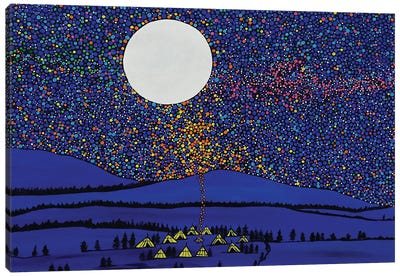 Sharing the Fire Canvas Art Print