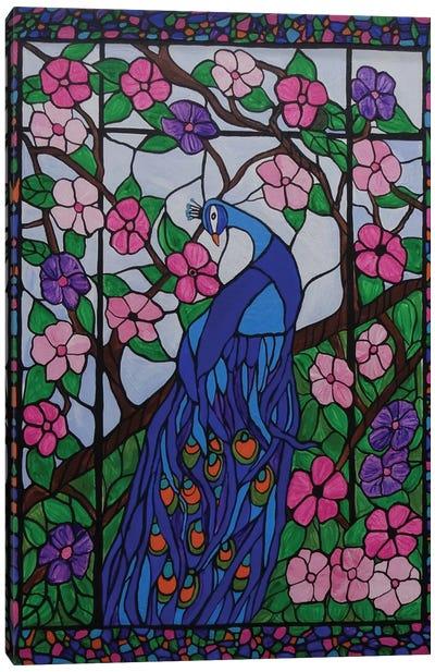 Bohemian Peacock Canvas Art Print