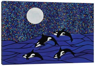 Where Whales Play Canvas Art Print