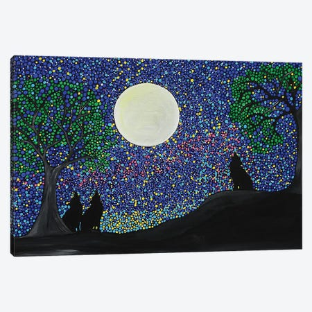 Wolf Cry Canvas Print #ROL61} by Rachel Olynuk Canvas Print