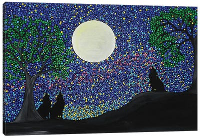 Wolf Cry Canvas Art Print