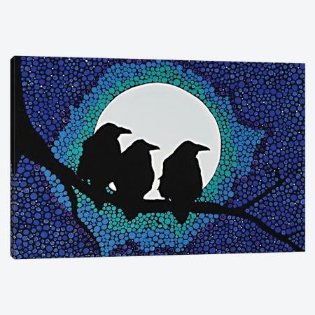 We Three Ravens Canvas Print #ROL65} by Rachel Olynuk Canvas Art