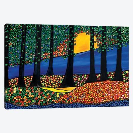 Tangerine Forest 3-Piece Canvas #ROL69} by Rachel Olynuk Canvas Print