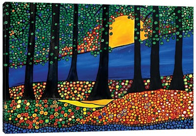 Tangerine Forest Canvas Art Print