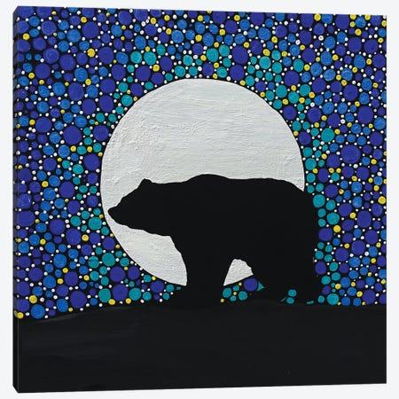 Moon Bear Canvas Print #ROL70} by Rachel Olynuk Canvas Art